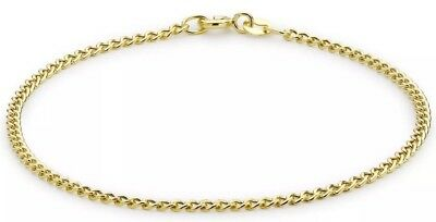 9ct YELLOW Solid GOLD Adjustable Anklet 24cm/9.5 inch hallmarked UK + FREE Gift