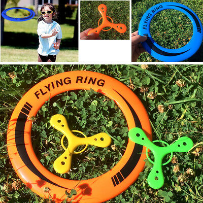 SPORTS FLYERS SET of 3 KIDS FRISBEE TRI WING BOOMERANG FLYING TOYS GARDEN BEACH