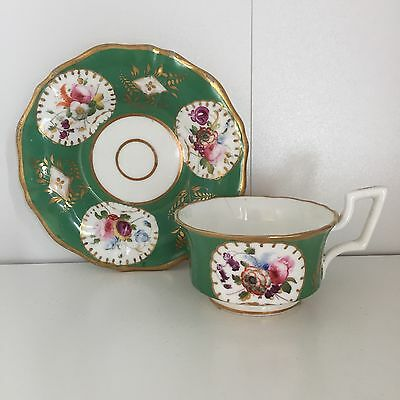 Collectable Green Davenport Cup And Saucer