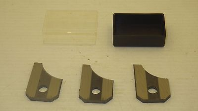 3 Drop Leaf Cutter Blades/knives For Sears/craftsman Molding Head Nnb