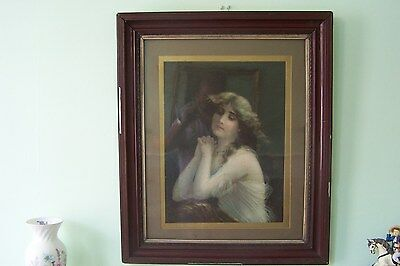 Portrait of a young lady, early twenties, beautiful piece.