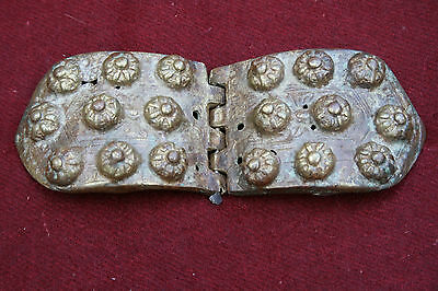 Antique Bulgarian Folklore Brass Belt Buckles Pafti