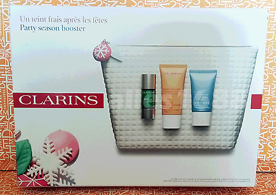 CLARINS Party Season Booster gift set pouch incl 'Booster' detox serum 15ml-NEW