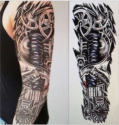 15*45cm Robot Arm Large Temporary Tattoos Mechanical Patten Fake Tattoo Stickers