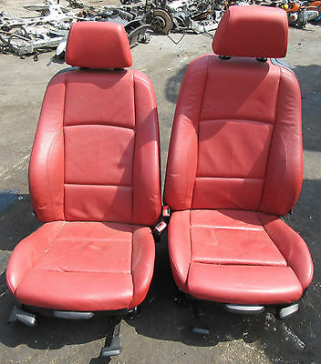 M Sport Red Leather Interior Seats Complete For Bmw E88 1 Series Convertible Picclick Uk