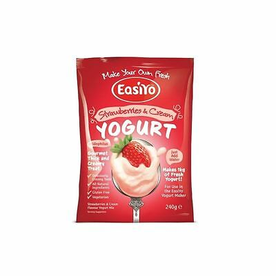 Easiyo Strawberries & Cream Premium Yoghurt Mix 240g