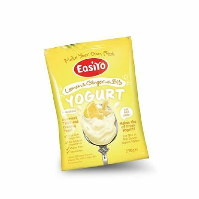 Easiyo Lemon & Ginger with Bits Premium Yoghurt Mix 230g