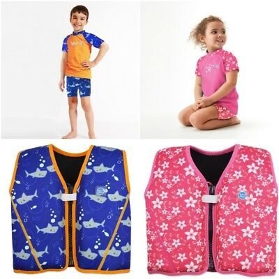 Splash About Kids Starter Float Jacket and Matching Jammers Shark Pink Blossom
