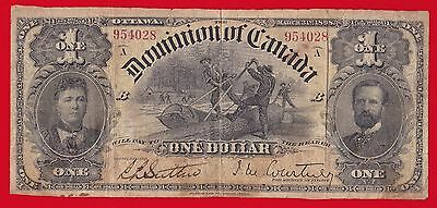 1898 Dominion Of Canada $1 Inward One's Series (A - D) J.m. Courtney.