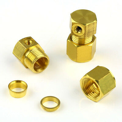 5pcs 3/8 Brass End Connector with 10/24 Threaded Port