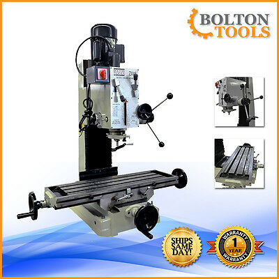 "Bolton Tools 9 1/2"" X 32"" Gear-Head Bench top Milling Machine Drilling Benchtop"