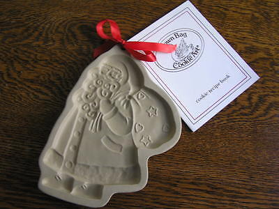 Brown Bag Cookie Art 1989 SANTA w/ Gift Sack Mold Hill Design w/ BOOKLET