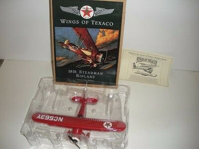 Wings of Texaco 1931 Stearman Biplane, 3rd in the series, Ertl Collectables 1995