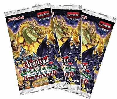 Yu-Gi-Oh! Dragons of Legend: Unleashed Booster (Pack of 3)