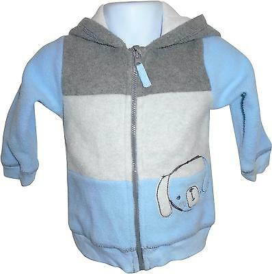 USED Boys George Blue Decal Zip Up Hooded Jacket Size 9-12 Months (E.W)