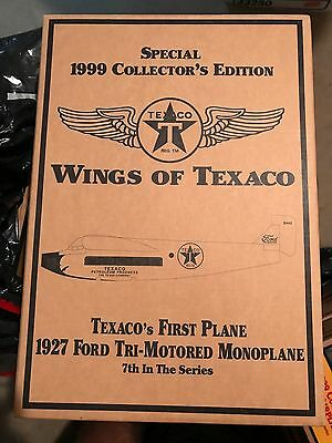 WINGS OF TEXACO - 1927 Ford Tri-Motor Monoplane Coin Bank - #7 in Series by Ertl