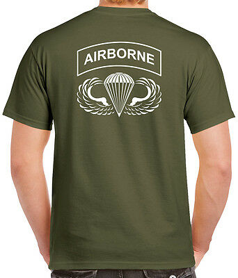 Airborne T-Shirt - 2 Sided Tee - 82nd 101st Paratrooper - 0027-2