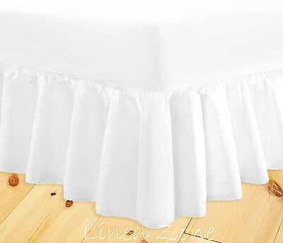 Fitted Valance Sheets Non Iron Hotel Quality Double Single Super King Size Deep