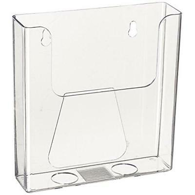 Source One Bi-Fold 6 Inch Booklet Brochure Holder Wall-Mount or Counter Top