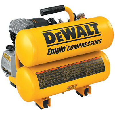 DEWALT 1.1 HP 4 Gallon Oil-Lube Hand Carry Air Compressor D55153 Reconditioned