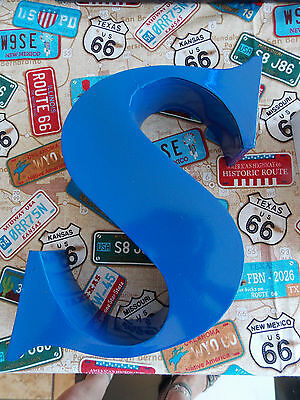 "Salvaged blue metal letter   ""s"""