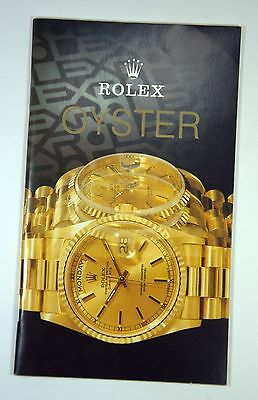 Vintage Rolex Oyster Store Brochure Catalogue Catalog Booklet Guide 1991