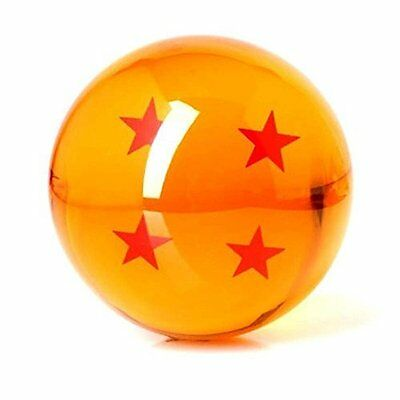 3 Acrylic Dragonball Replica Ball Toy Large 4 Star Unisex Make a Wish! New