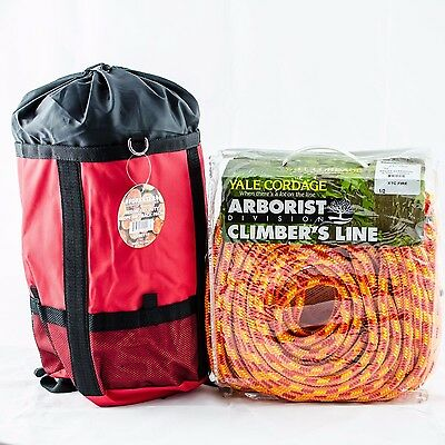 """XTC Fire Tree Climbing Rope,Yales16 Strand Rated 6200Lb Strength,1/2""""x150' W/Bag"""