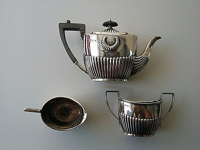Magnificent Equestrian Antique Sterling Silver Tea Set, 495.1 Grams, Circa 1906