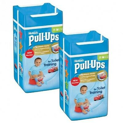 Lot de 2 HUGGIES Pull-Ups Boy Taille 5  11-18kg couches x14