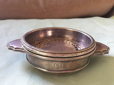 Mappin & Webb Silver Plate Quaich With Inner Liner