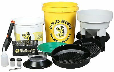 Gold Rush Nugget Bucket - Gold Panning and Prospecting Kit Yellow