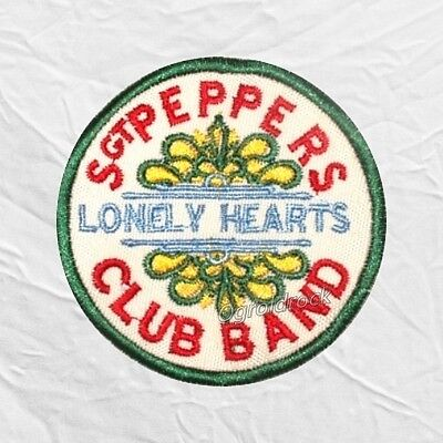 The Beatles Sgt Peppers Lonely Hearts Club Band Logo Embroidered Patch John Paul