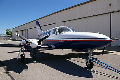 1978 CESSNA TWIN 414A, 8-SEATS, LOW TIME TSIO 520's, 1,000+ KT. MILE RANGE CLEAN