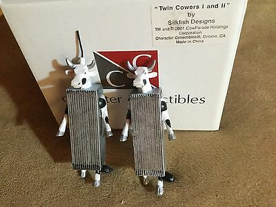 "Cow Parade Figurines "" TWIN COWERS ""...VERY RARE !"