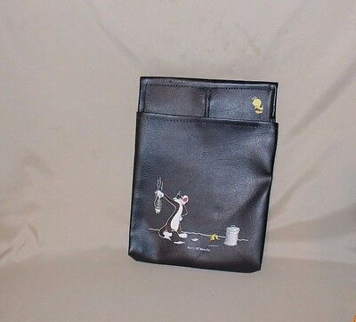 "Vintage 1997 Looney Tunes Tweety Sylvester Knob Holder Car Bag Pouch 9 1/2"" tall"