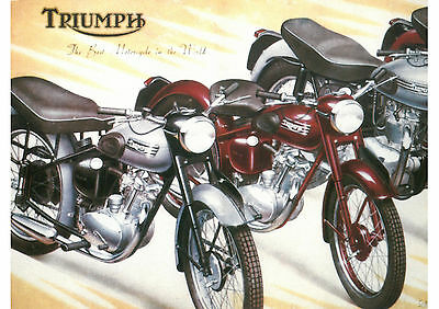 1950's Triumph motorcycles poster