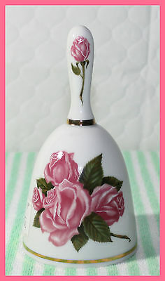 *vintage New* Danbury Mint Dinner Bell With Roses Mothers Day 1980 Le