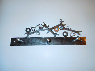 Steampunk Industrial Rustic Handmade Coat/Hat Rack