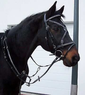 Knight bridle Show Ceremonial black chains + Lambskin