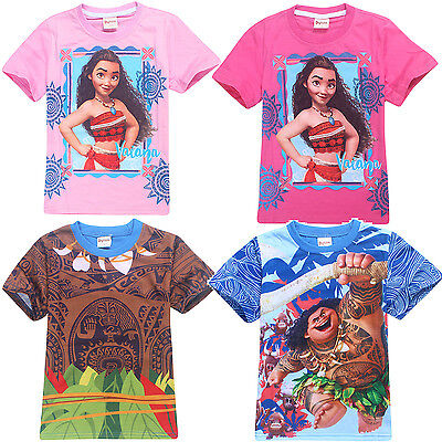 MOANA boys girls summer tee t-shirt top Maui Kakamura size 3-8 new AU stock xmas