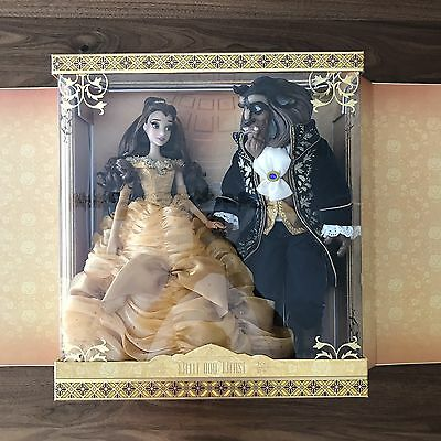 "Disney Platinum Limited Edition Beauty Belle and the Beast Doll Set 18"" BNIB"