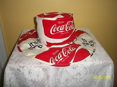 Vintage &  Original Coca Cola Floppy Hippie Hat ( It's The Real Thing ) Nice