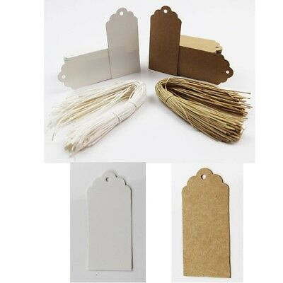 Brown White Kraft Tags Cardboard Paper With Twine Wedding String Gift Tag