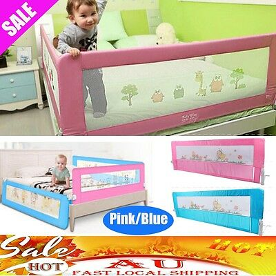 Child Toddler Safety Bed Rail Baby Bedrail Fold Cot Guard Protection Blue/Pink