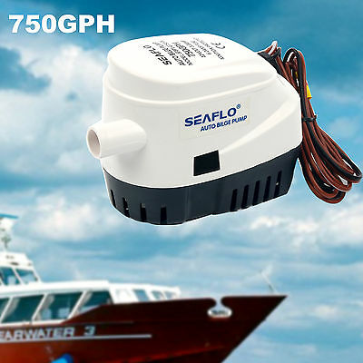 750GPH Boat Marine Automatic Submersible Auto Bilge 12V Water Pump Float Switch