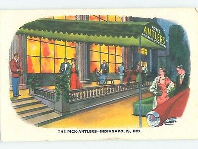 Unused 1940's HOTEL SCENE Indianapolis Indiana IN B2025