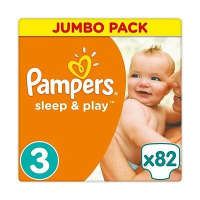 Pampers Sleep & Play Taille 3 5-9kg - 82 Couches