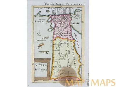 Aegypte Ancienne antique map Ancient Egypt Mallet 1683