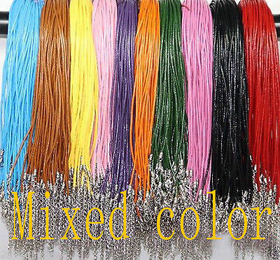 NEW 20Pcs 2.0mm DIY Cord Necklace with Lobster Clasp Charms necklace